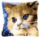 Knüpfkissen Katze