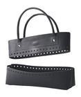 Kit sac en simili cuir, noir